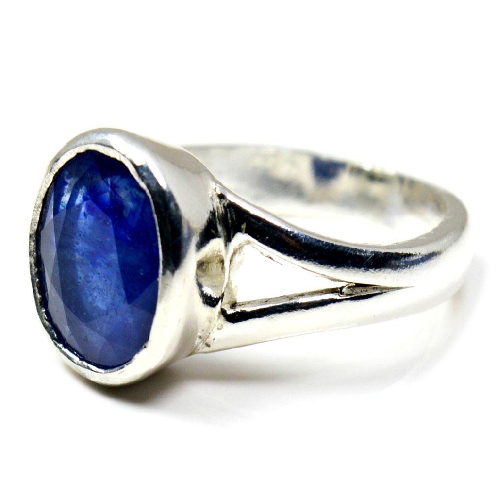 Genuine-Blue-Sapphire-Ring-4-5-Carat-Silver-Ring-Cut-Design-US-Size-4-13-SPF1UK